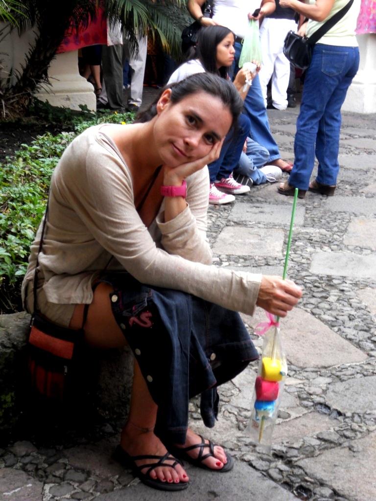 Cristina en el Jardìn Borda