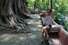 Cristina en el parque Melchor Ocampo 2