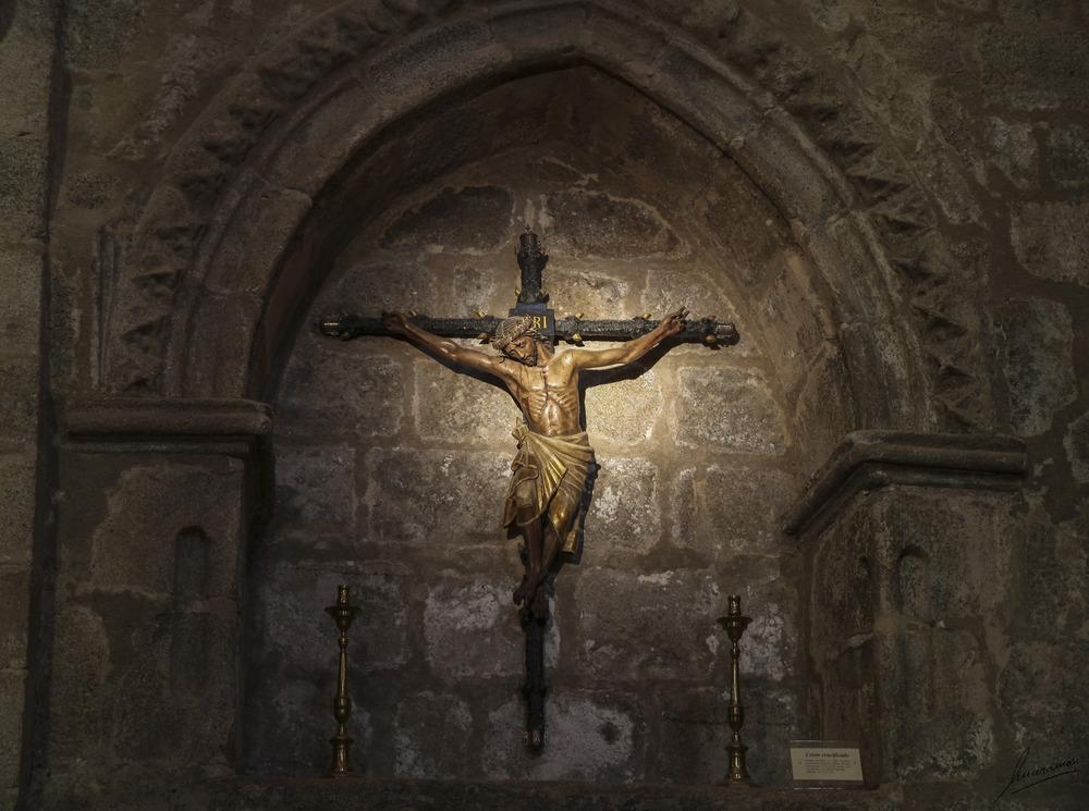 Cristo crucificado Iglesia de Santa Maria La Mayor (Trujillo Cáceres Extremadura España)