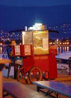 Croatia, Krk, Silo, popcorn seller