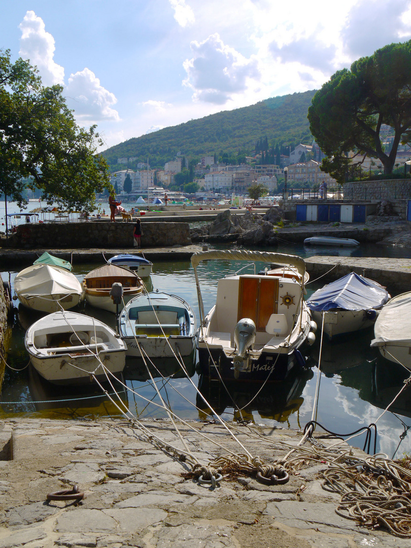 Croatia, Opatija, small ancient harbour