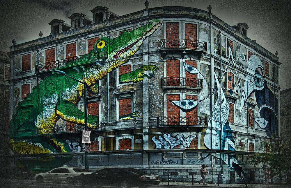 crocodiles and birds