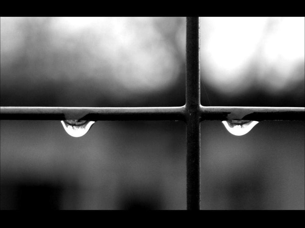 Cross & teardrops