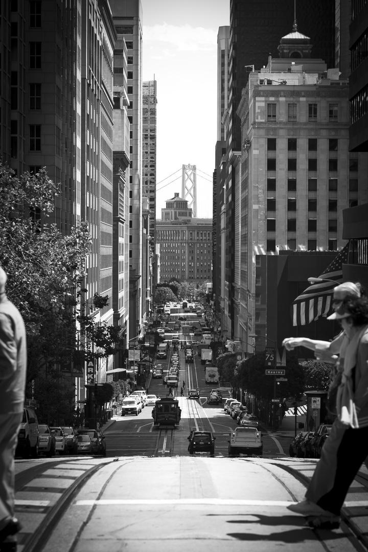 ... crossing the street ...