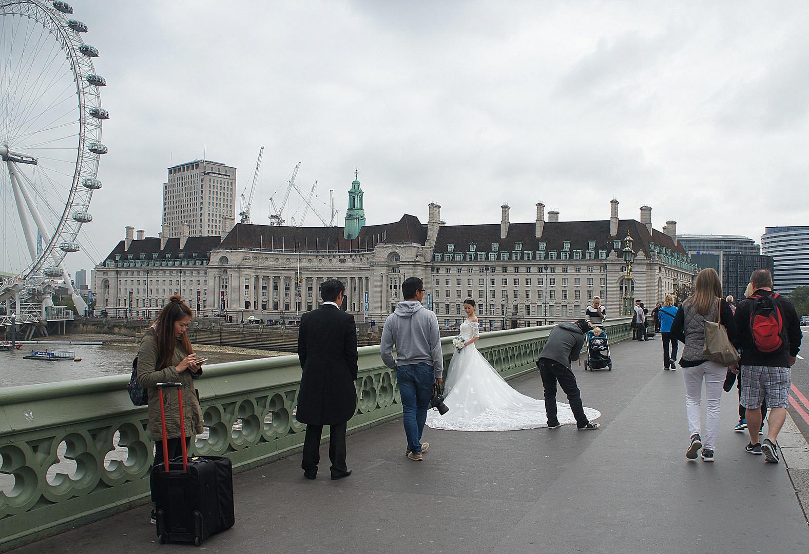 Crossing Westminster bridge
