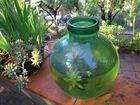 cruche verte/ grüner Glaskrug