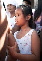 Crucifixion - girl watching
