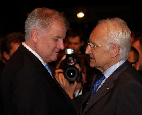 CSU Granden: Neuer CSU-Vorsitzender Horst Seehofer mit Ehrenvorsitzenden Edmund Stoiber