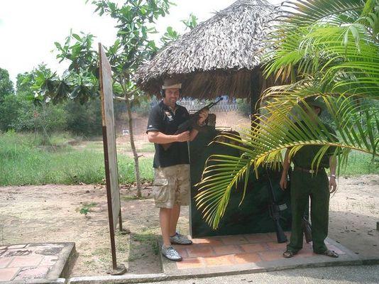 Cu Chi Tunnel Vietnam AK 47