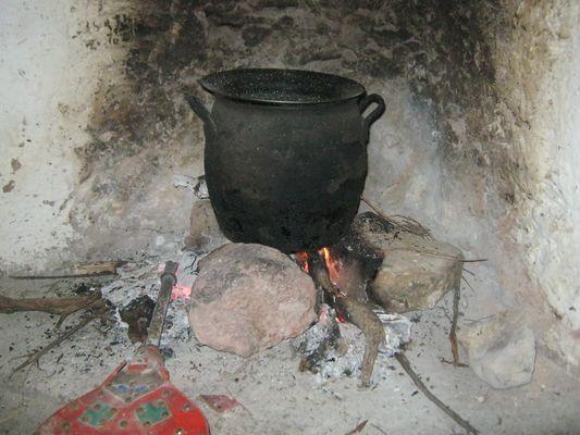 Cuisine traditionnelle dans la montagne