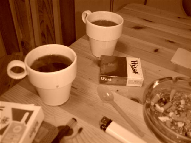 cup of coffee and a cigarette....