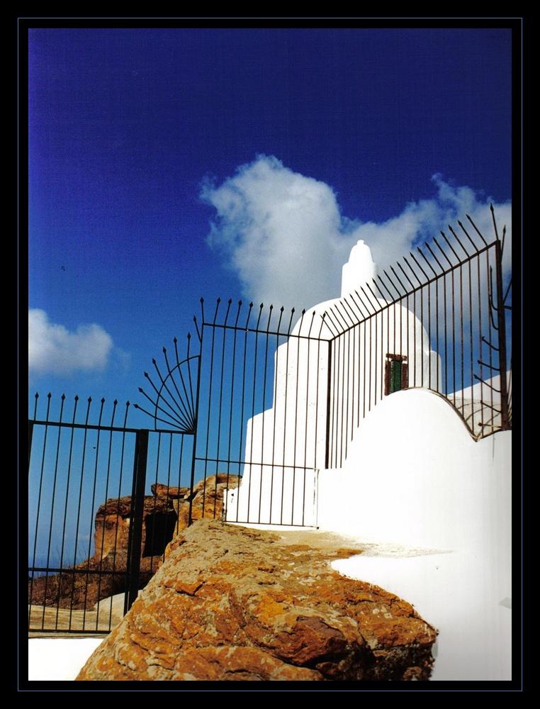 curieux, une église byzantine dans les îles éoliennes