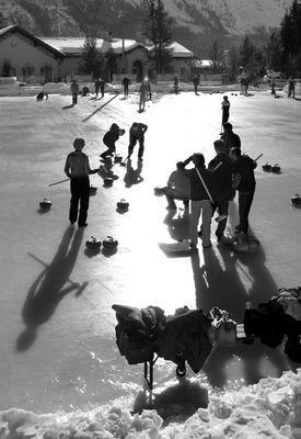 Curling in St.Moritz