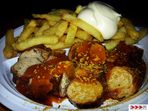 Currywurst Pommes Mayo