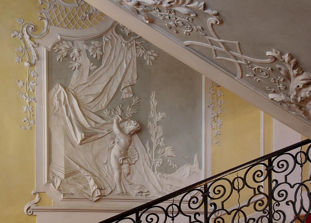 Cuvilliés-Treppenhaus [Wand-Ornament]