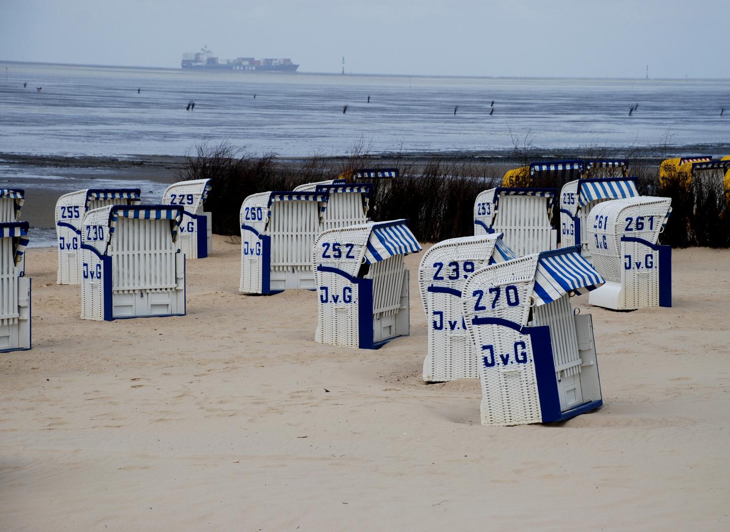 Cuxhaven - Strandkorbimpressionen