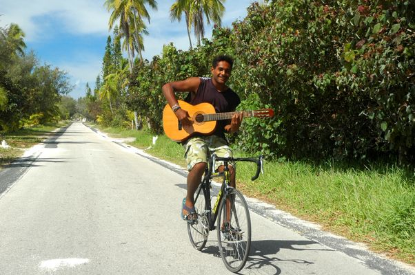 Cycliste guitariste