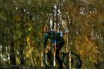 cycliste immergé en couleurs