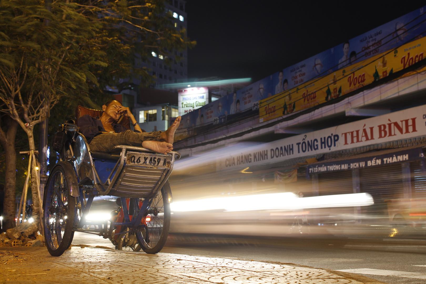 Cyclo Fahrer in Saigon