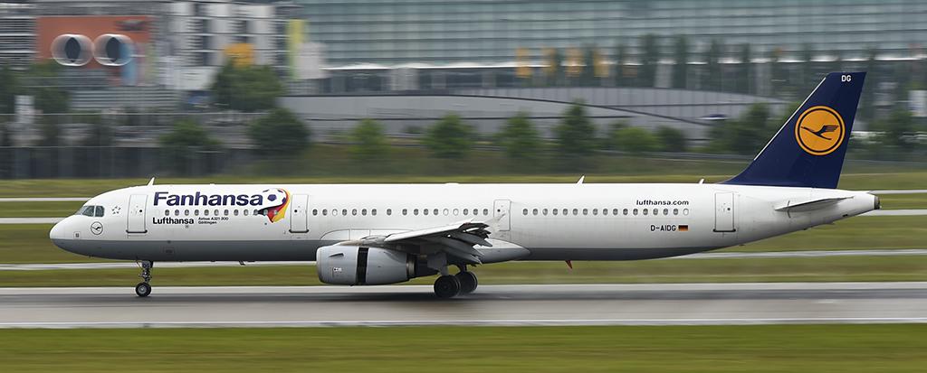 D-AIDG - Fanhansa - Lufthansa - Airbus A321