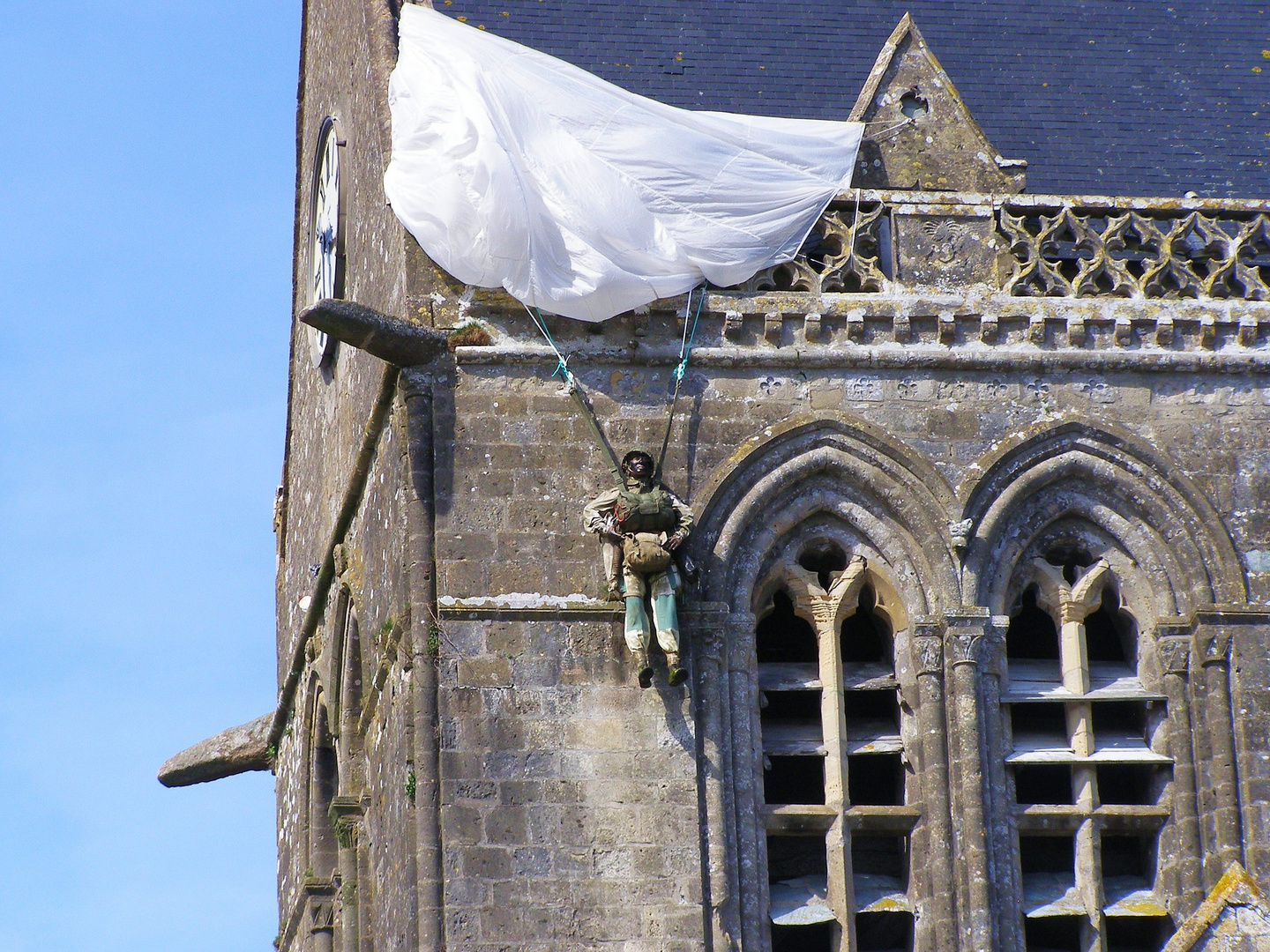 D-Day Paratrooper at S. Mere Eglise
