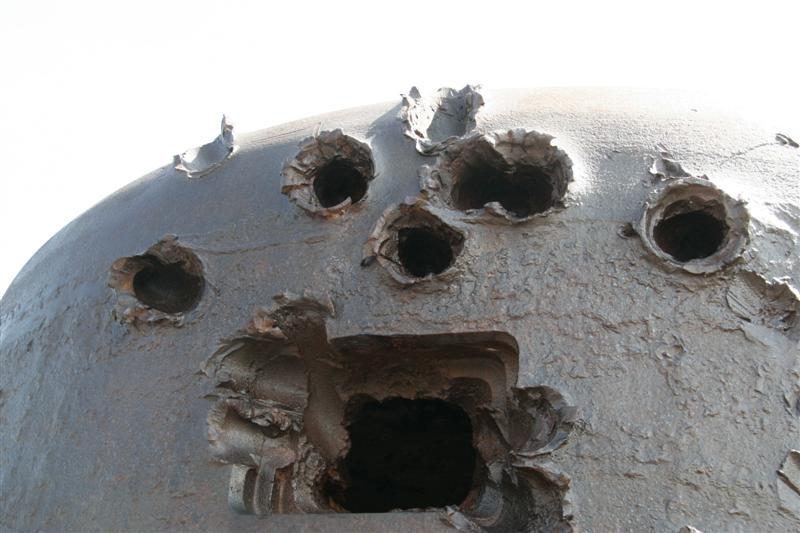 D-Day - Verteidigungsbau mit Einschusslöchern