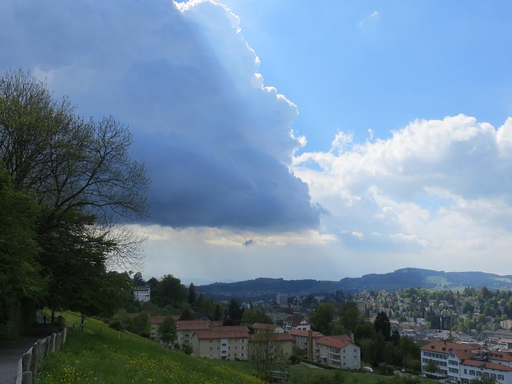 Da braute sich was zusammen über St. Gallen ...