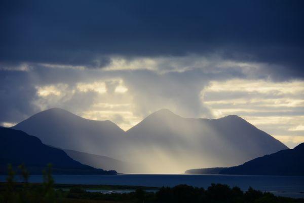 Da braute sich was zusammen und wie (Isle of Skye, Schottland)