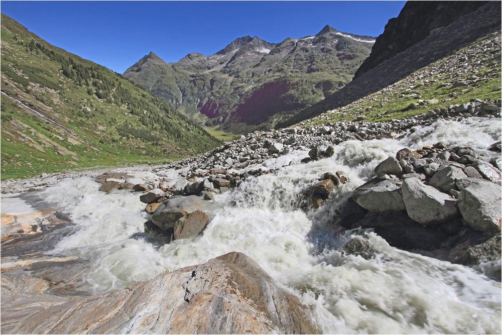 da fließt der Gletscher