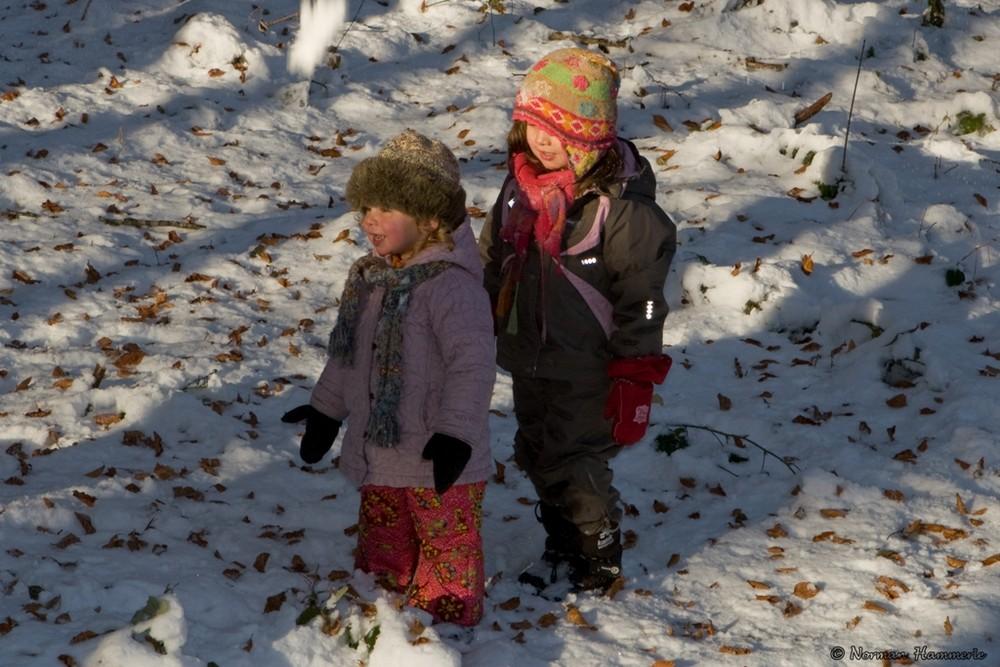 Da haben die Kinder Spass im Wildpark in Feldkirch...