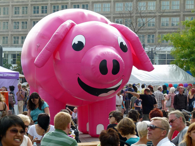 (da hat das Schwein) Schwein gehabt