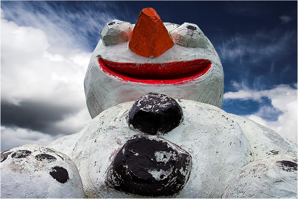 Da lacht der Schneemann