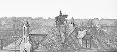 Da steht ein Pferd auf´m Dach