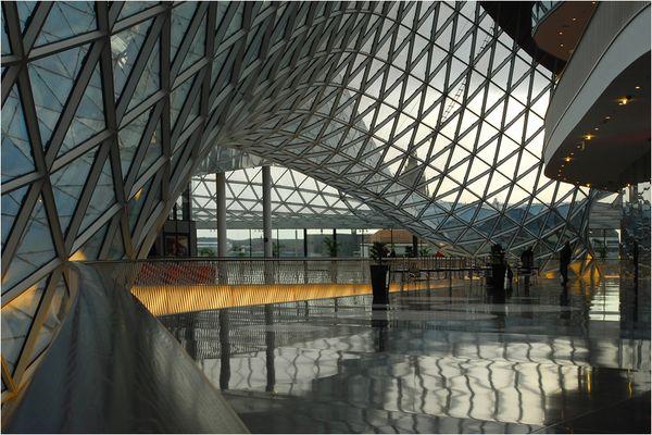 Dach aus Glas