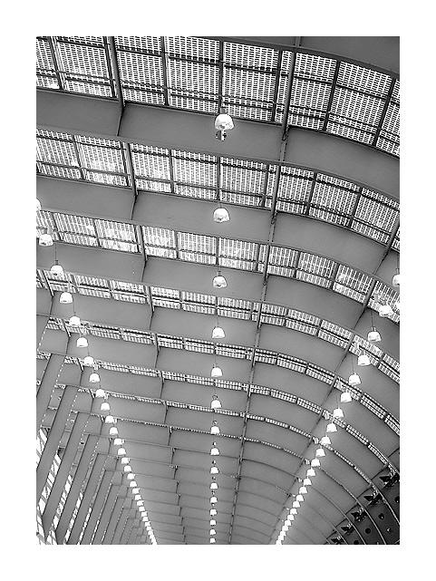 Dach der neuen Galerie Messe Essen