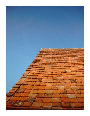 Dach im Elsaß