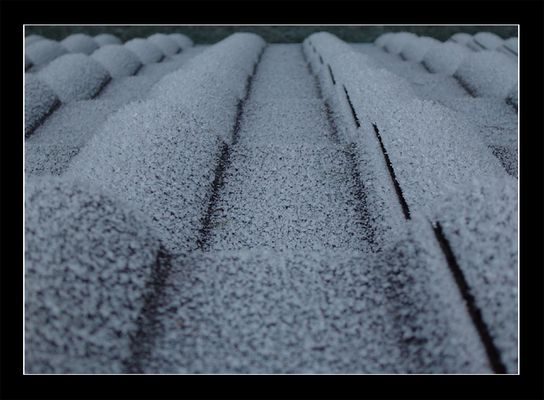 Dach mit Rauhreif