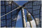 Dach Olympiastation München mit Fernsehturm