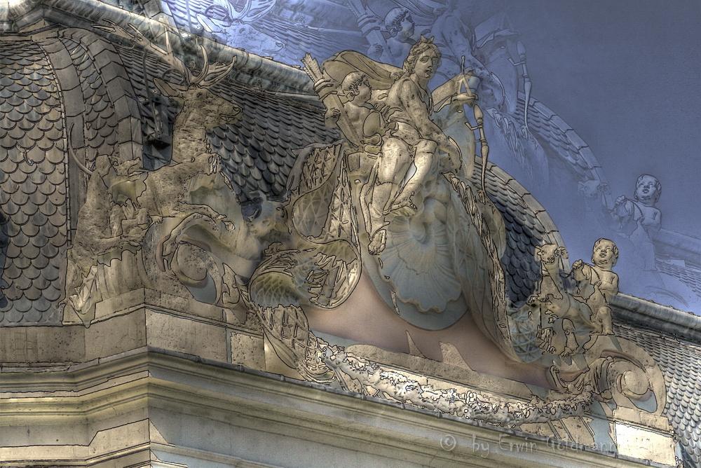 - Dach vom Schloß Benrath -