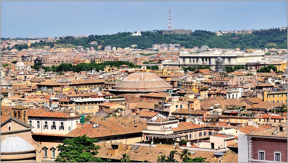 ... Dachblick über Rom ...