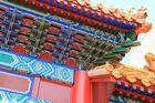Dachfirst an chinesischem Tempel