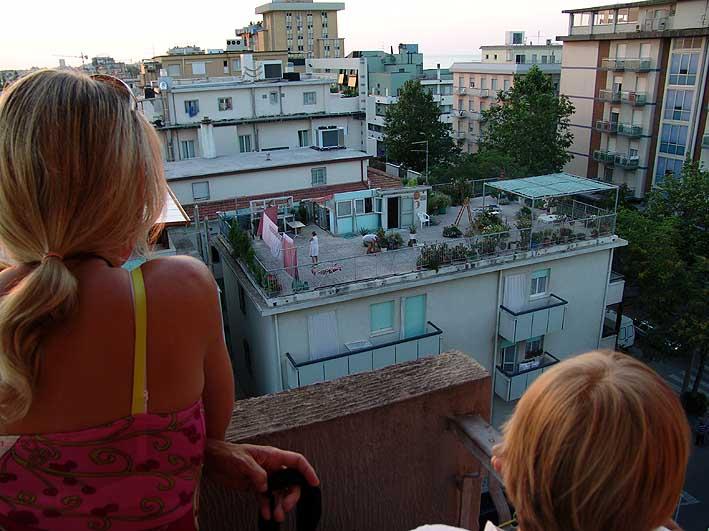 Dachgarten unter Beobachtung