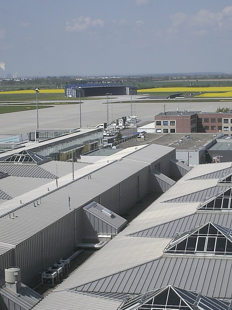 Dachkonstruktion Airport Halle / Leipzig