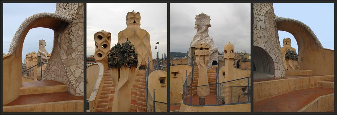 Dachlandschaften - Casa Milá