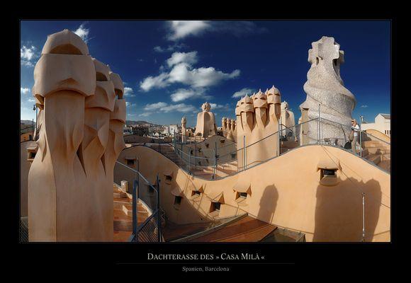 Dachterrasse des Casa Milà
