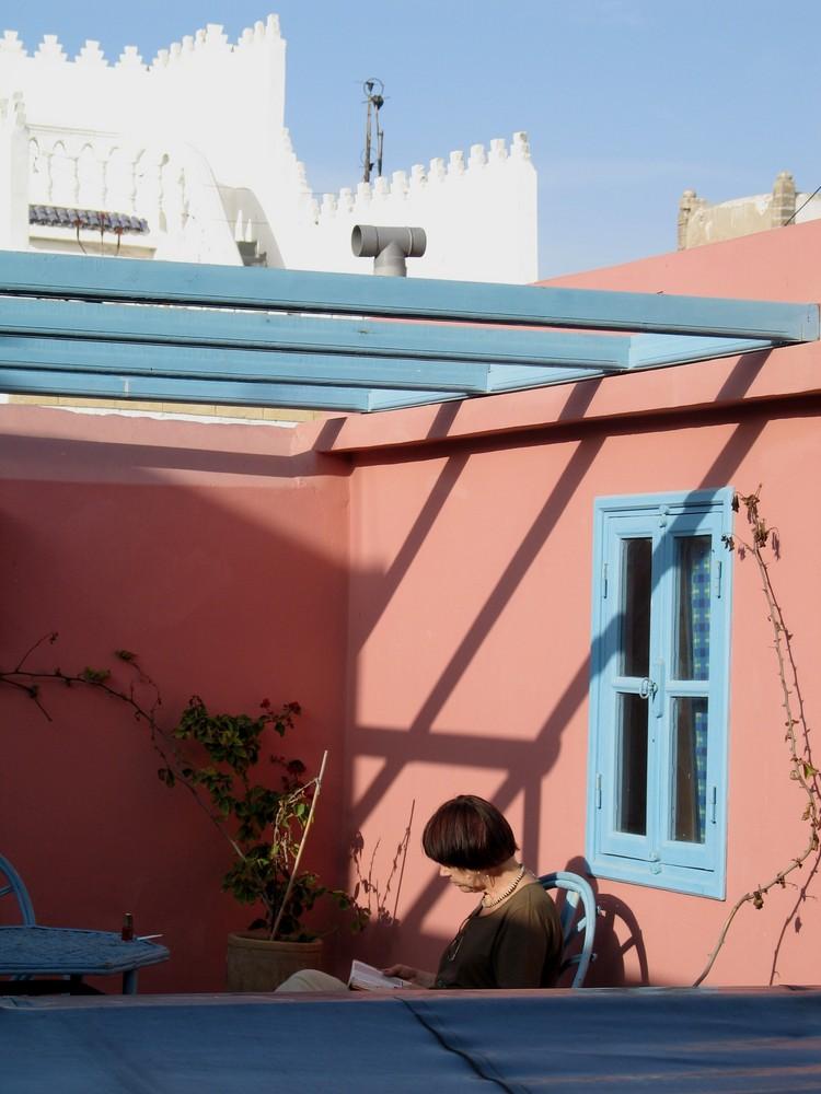 Dachterrasse in Essaouira/Marokko