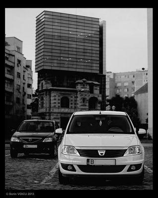 Dacia in Schwarz und Weiß