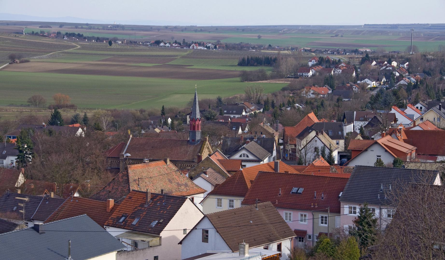 Dächer von Gau-Bischofsheim