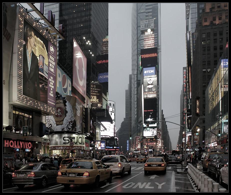 Dämmerung am Time Square