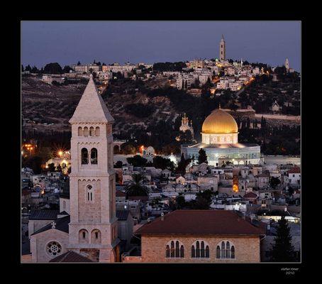 Dämmerung über Jerusalem
